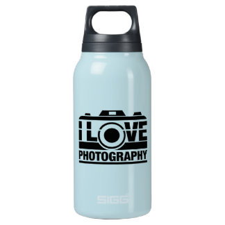 I Love Photography Insulated Water Bottle