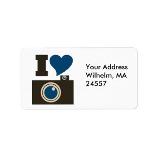 I Love Photography Label
