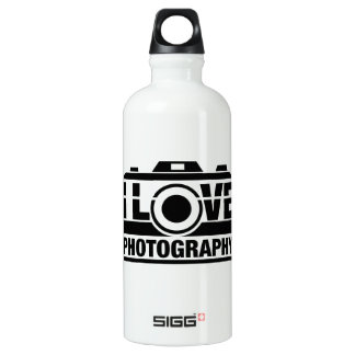 I Love Photography Water Bottle