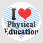 I Love Physical Education Stickers