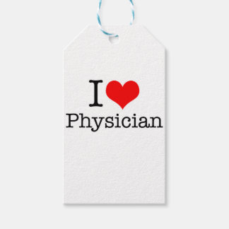 I Love Physician Pack Of Gift Tags