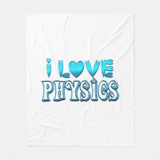 I Love Physics Fleece Blanket