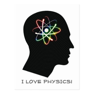 I LOVE PHYSICS | Geek Postcard
