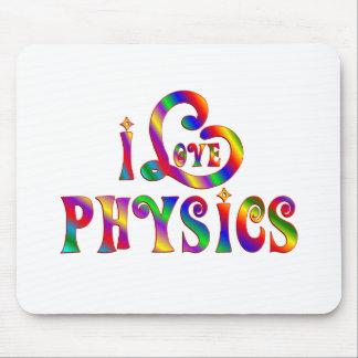 I Love Physics Mouse Pad