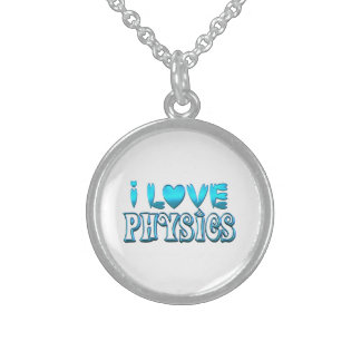 I Love Physics Sterling Silver Necklace