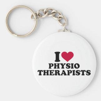 I love physiotherapists basic round button keychain