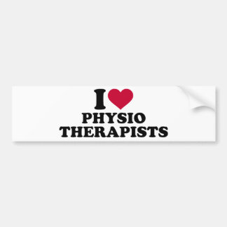 I love physiotherapists bumper sticker