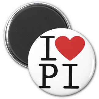 I LOVE PI 2 INCH ROUND MAGNET
