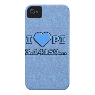 I LOVE PI - BLUE MODEL Case-Mate iPhone 4 CASE