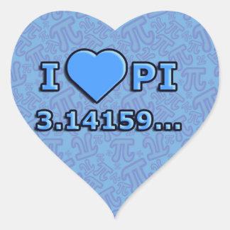 I LOVE PI - BLUE MODEL HEART STICKER
