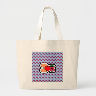 I love pi - blue Model Large Tote Bag