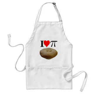 I love pi, I love pie, I heart pi, I heart pie Standard Apron