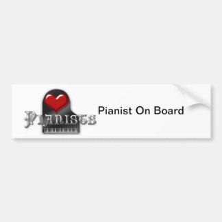 I Love Pianists Car Bumper Sticker