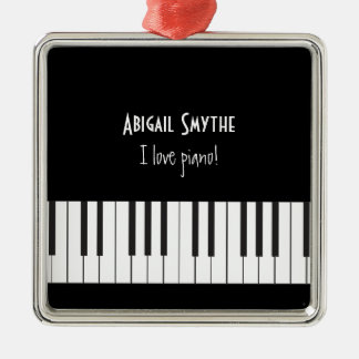 I love Piano Ornament