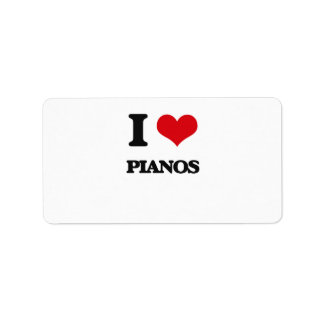 I Love Pianos Personalized Address Labels