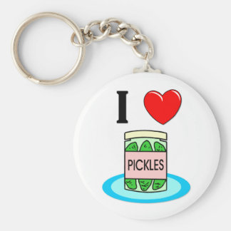 I Love Pickles Keychain