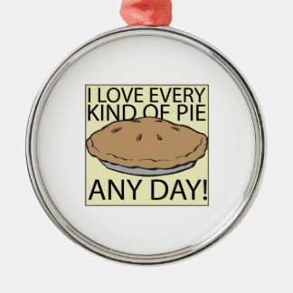 I Love Pie Metal Ornament