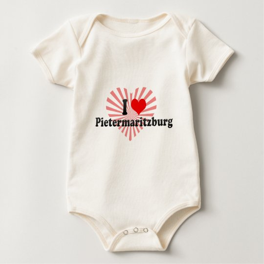 I Love Pietermaritzburg, South Africa Baby Bodysuit