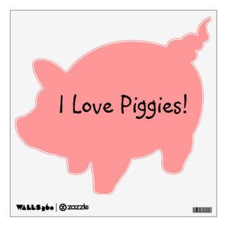 I Love Piggies Wall Decal