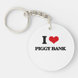 I Love Piggy Bank Keychains