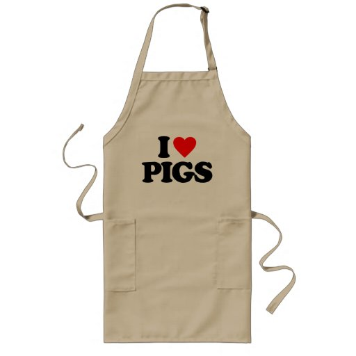 I LOVE PIGS APRONS