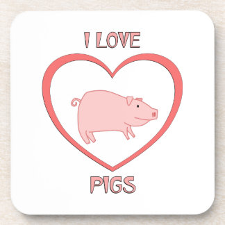 I Love Pigs Coasters