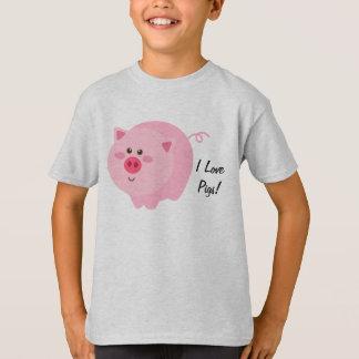 I Love Pigs Kids T-Shirt