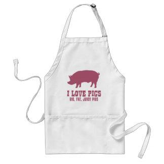 I Love Pigs Standard Apron