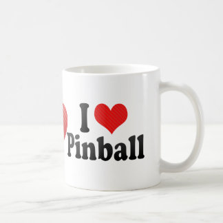 I Love Pinball Coffee Mug
