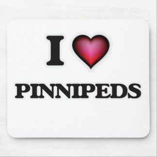 I Love Pinnipeds Mouse Pad