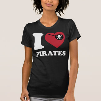 I Love Pirates-Classic Iheart with eye patch Shirt