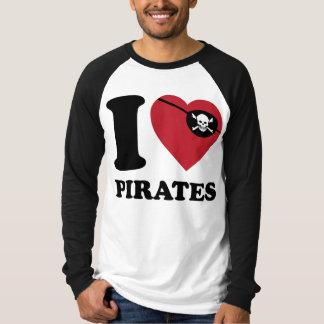 I Love Pirates I Heart Pirates T Shirt