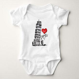 I love Pisa Baby Bodysuit