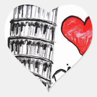 I love Pisa Heart Sticker