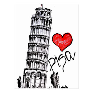 I love Pisa Postcard