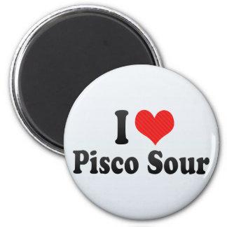 I Love Pisco Sour 2 Inch Round Magnet