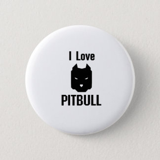 I Love Pitbull  Dog Pet puppy Gift Funny 2 Inch Round Button