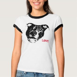 I Love Pitbulls Logo Design - Cool Trendy & Hip T-Shirt