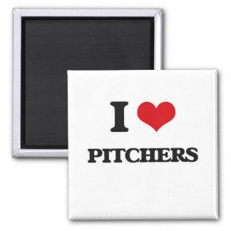 I Love Pitchers Magnet
