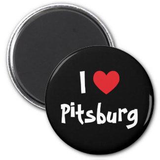 I Love Pitsburg 2 Inch Round Magnet