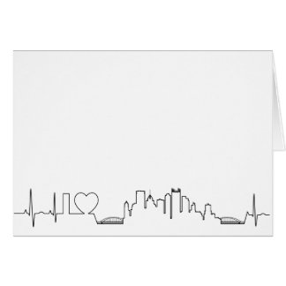 I love Pittsburgh in an extraordinary ecg style Card