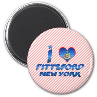 I love Pittsford, New York 2 Inch Round Magnet