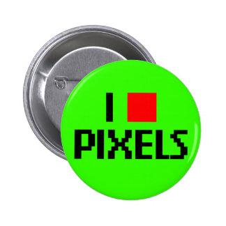 I Love Pixels Dark Pins