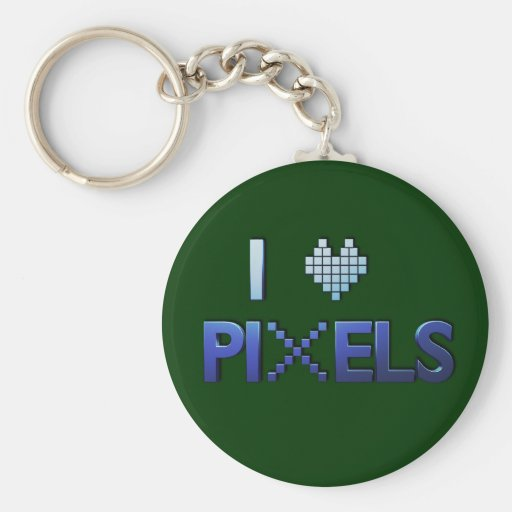 I Love Pixels Keychain