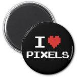 I love pixels pixelated heart retro 8bit gamer magnet