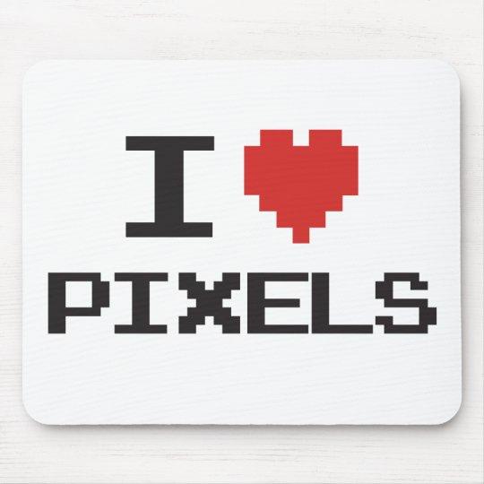 I love pixels pixelated heart retro 8bit gamer mouse pad