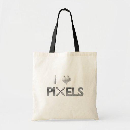 I Love Pixels Tote Bag