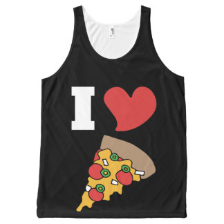 i love pizza All-Over-Print tank top