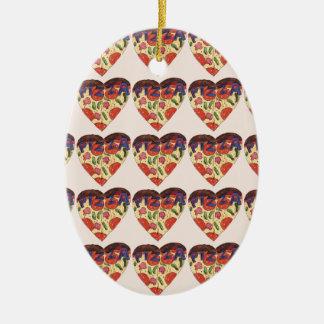 i love pizza ceramic ornament