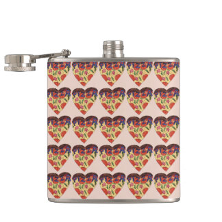i love pizza hip flask